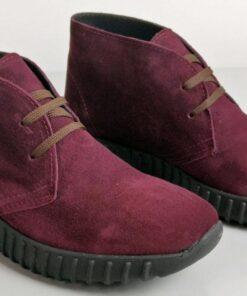 Sneakers in camoscio bordò