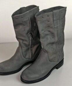 Stivali con applicazioni colore grigio