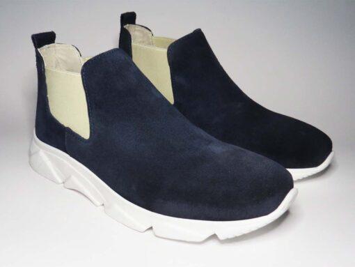 Sneakers camoscio blu