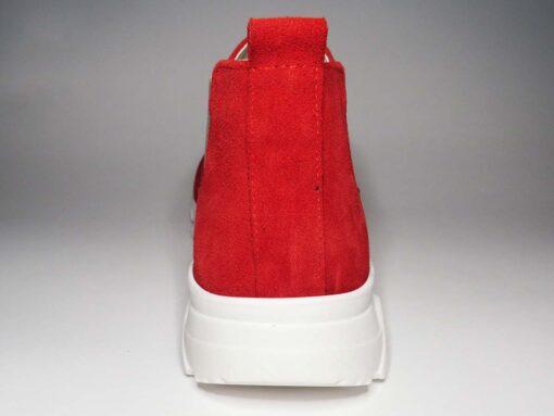 Sneakers camoscio rosso