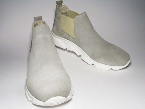 Sneakers camoscio taupe chiaro