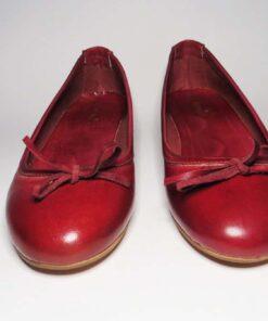 Ballerine vacchetta rosso