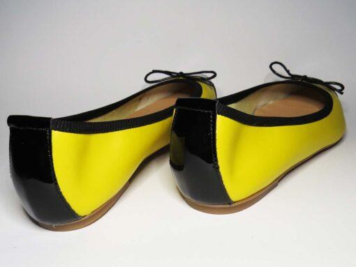 Ballerine in pelle giallo