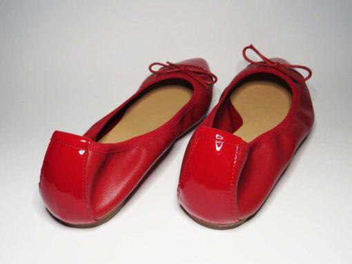Ballerine in pelle rosso