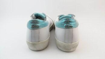 Sneakers bianco celeste