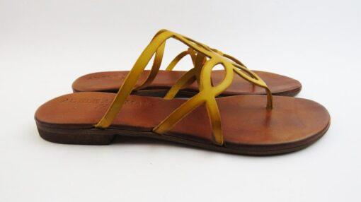 Ciabattine infradito in pelle giallo
