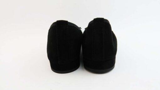 Ballerine camoscio nero con punta rotonda