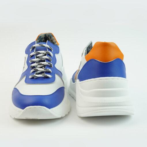Sneakersrunning con suola big colore bianco con stella laterale arancione